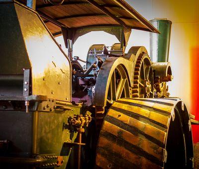 Lokomobile im Moormuseum